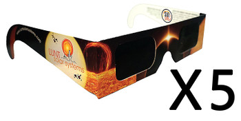 Lunt Solar Eclipse Glasses, Pack of 5 ea.