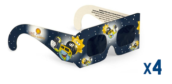 Lunt Kids Eclipse Glasses, Pack of 4 ea.