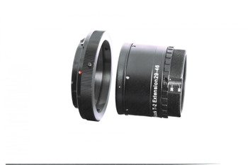 Baader Planetarium VariLock 46, Variable Length T-2 Extension Tube 29-46mm, with graduated length scale.