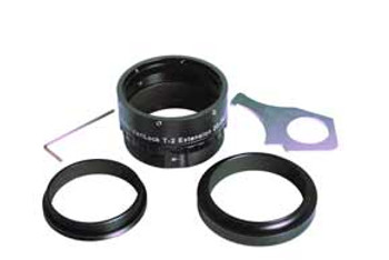 Baader Planetarium VariLock 29, Variable Length T-2 Extension Tube 20-29mm, with graduated length scale.