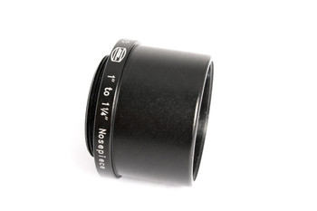 "1"" C-Mount Adapter with 1¼"" Nosepiece, 18mm long, threaded to hold 1-1¼"" eyepiece filters (also includes retainer ring to permanently hold one unmounted filter from 27.5 to 28mm diameter)"