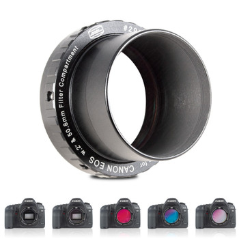 Baader Protective Wide T-Ring for Canon-EOS, incl. fineoptically polished dust protection Clear Filter 50.4mm, with Phantom Group Multicoating