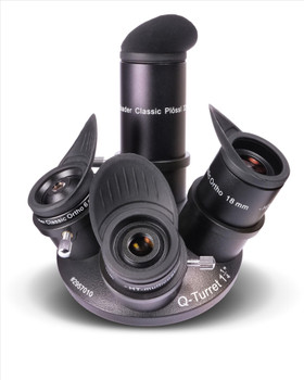 Baader Classic Q-Eyepiece Set - Classic Orthos 6,10,18mm / Plossl 32mm (incl winged eyecups), 2.25X Q-Barlow, Q-Turret quad eyepiece revolver, Baader Astro Box #1 (M31)