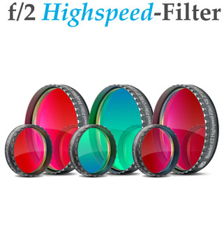 "Baader f/2 Highspeed-Filter Set 2"", consisting of H-A, O-III, S-II NEW"