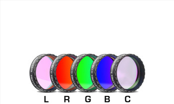 """Baader RGB Filter Set 1 1/4"""" with UV/IR Cut L-Filter and Clear Filter (Optically Polished, with LPFC)"""