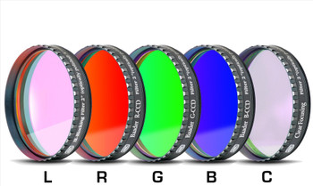 """Baader RGB Filter Set 2"""" with UV/IR Cut L-Filter (Optically Polished, with LPFC)"""