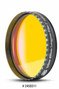 "Eyepiece Filter Yellow 2"", 495nm Longpass, Optically Polished w/MC"