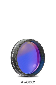"Eyepiece Filter Dark Blue 1.25"", 435nm Bandpass, Optically Polished w/MC"