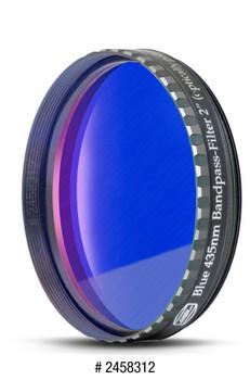 "Eyepiece Filter Dark Blue 2"", 435nm Bandpass, Optically Polished w/MC"
