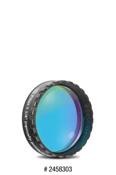 "Eyepiece Filter Blue 1.25"", 470nm Bandpass, Optically Polished w/MC"