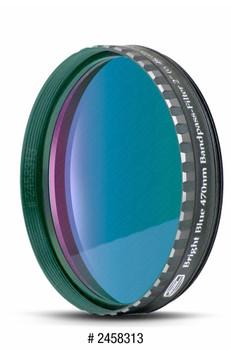 "Eyepiece Filter Blue 2"", 470nm Bandpass, Optically Polished w/MC"