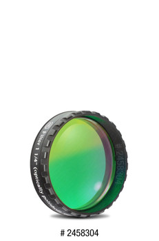 "Eyepiece Filter Green 1.25"", 500nm Bandpass, Optically Polished w/MC"