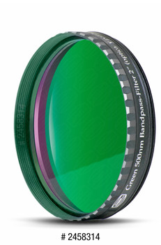 "Eyepiece Filter Green 2"", 500nm Bandpass, Optically Polished w/MC"