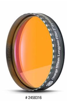 "Eyepiece Filter Orange 2"", 570nm Longpass, Optically Polished w/MC"