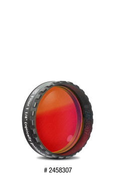 "Eyepiece Filter Red 1.25"", 610nm Longpass, Optically Polished w/MC"