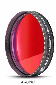 "Eyepiece Filter Red 2"", 610nm Longpass, Optically Polished w/MC"
