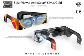 Baader Solar Viewer AstroSolar® Silver/Gold Eclipse Glasses in 100pc counter display