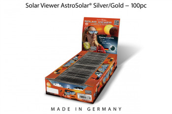 Baader Planetarium Solar Viewer AstroSolar® Silver/Gold Eclipse Glasses in 100pc counter display