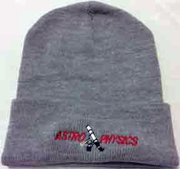Astro-Physics Astro-Physics Embroidered Knit Cap, Dark Ash  (APCAPW)