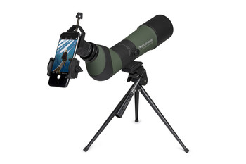 LandScout 20-60x65mm Spotting Scope with Table-top Tripod and Smartphone Adapter