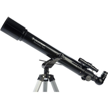 "Start learning the sky with this refractor telescope!  Great for children, this telescope is a ""point and shoot"" set up that will give views of the Planets, Moon, and more.  Use it to look at wildlife or distance on land!  It comes with two eyepieces, a barlow and a finderscope, as well as a correct image diagonal.   Nice starter scope for children."