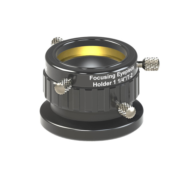 """1¼"""" / T-2 Focusing Eyepiece Clamp, w/ dual clampscrews and compression ring"""