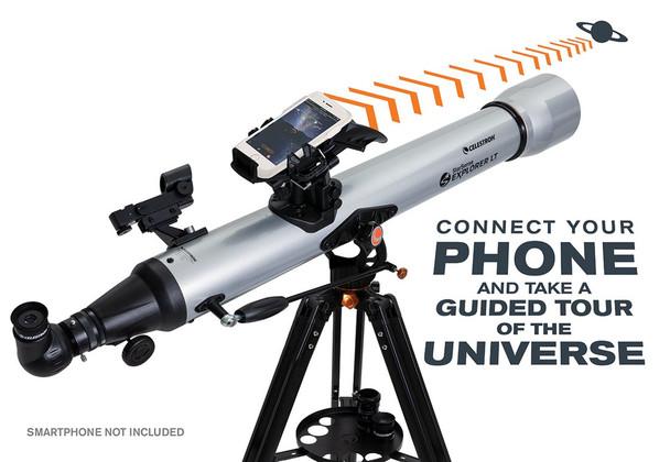 Celestron StarSense Explorer™ LT 80AZ Smartphone App-Enabled Refractor Telescope