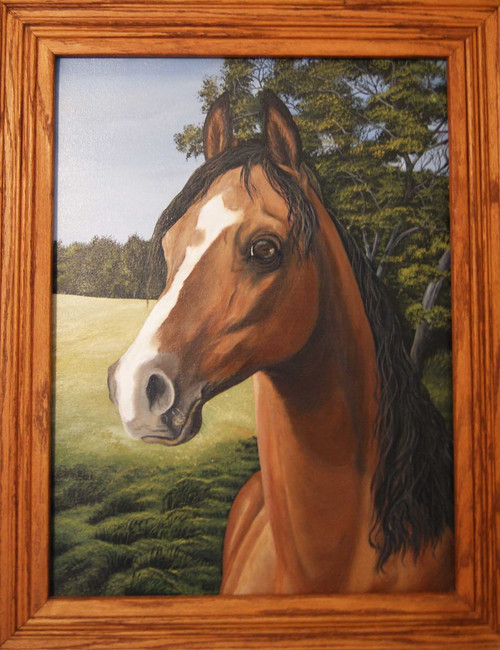 Portrait of a Champion Stretched Canvas Giclee Print