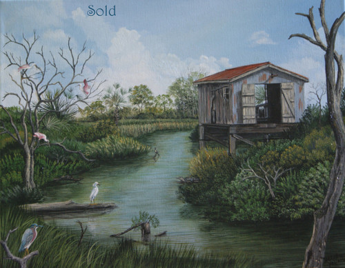 'Louisiana Bayou' original Painting is Sold but prints are available!