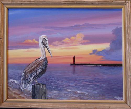 Pelican Fun  canvas giclee print 16x20