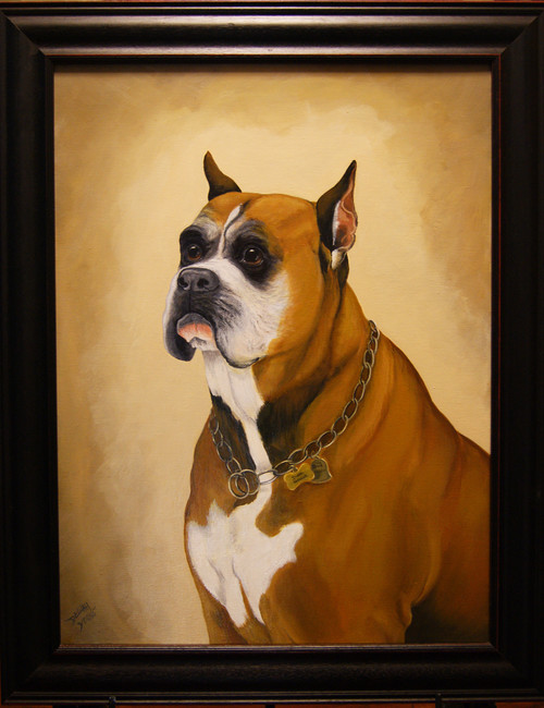 Pet Portrait Commissioned *    If you would like a 16x20 portrait of your pet, purchase this image, and email us the photograph of your pet at: delilahyoungpainting@hotmail.com.