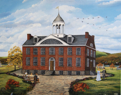Augusta College 1820 stretched canvas giclee print 12x16.