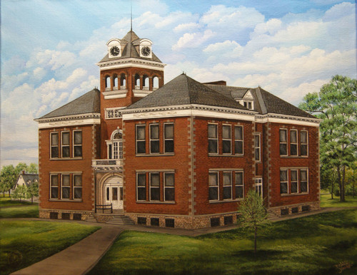 Augusta College 1900's is the third in the series of buildings erected on the same site with wings added.  Offered in a 12x16..for larger prints 16x20 or 18x24 contact us.
