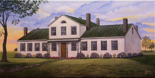 The boarding house/dormitory for Augusta College in the early years was called Echo Hall.  It is currently being restored back to it's former glory.  This stretched canvas giclee print comes in a 12x24.