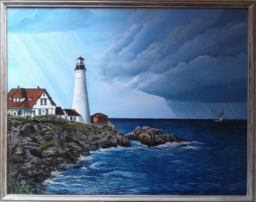 The Portland Head Lighthouse is one of the most favorite Maine Lighthouses of all lighthouse seekers.  It has always been a favorite of mine and I was thrilled to get to view it.  This stretched canvas print is available in 18x24.  if you wish to add a frame, contact us for more information.