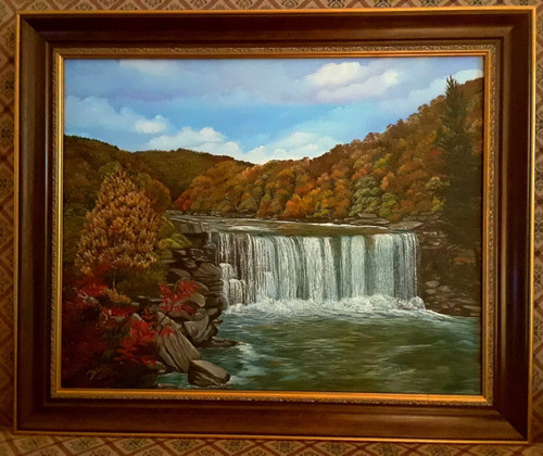 Cumberland Falls in the fall season, 16x20 stretched canvas print.
