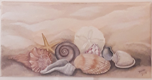 Seashells at the Seashore solo or grouped Beach Buddies Triptych.