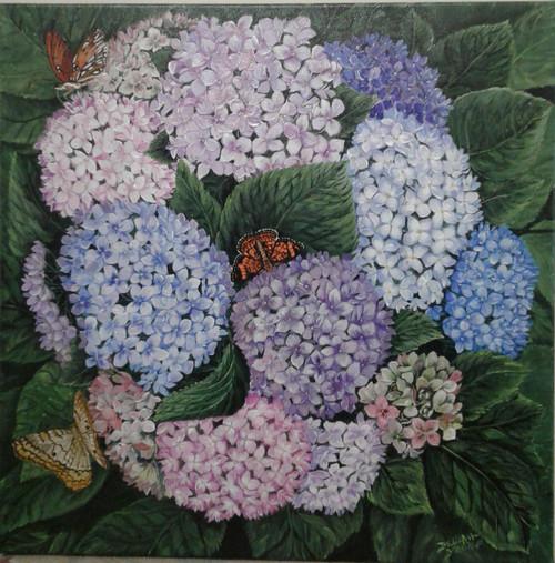 Hydrangeas and Butterflies brighten up an area