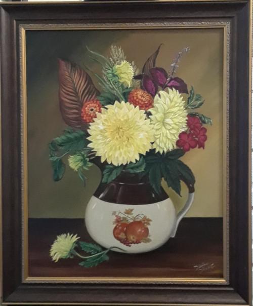 Vintage Dahlias- Original
