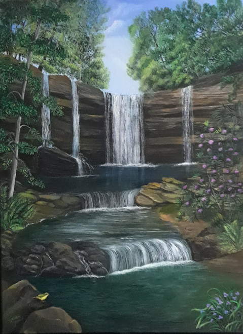 Rest by the Waterfall, original