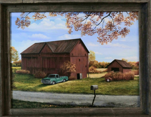 Old Chevy and the Red Barn- sold