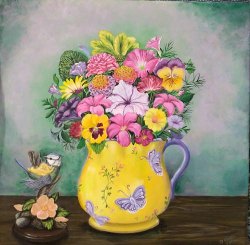 TeaCup Full of Flowers-original