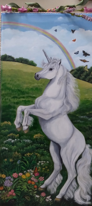 Unicorn Dancing with the Butterflies  canvas print