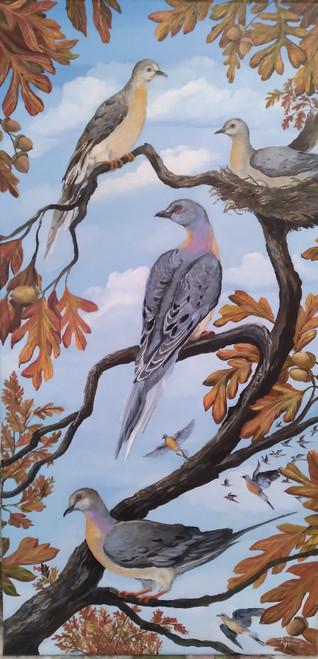 Passenger Pigeon Tribute canvas print