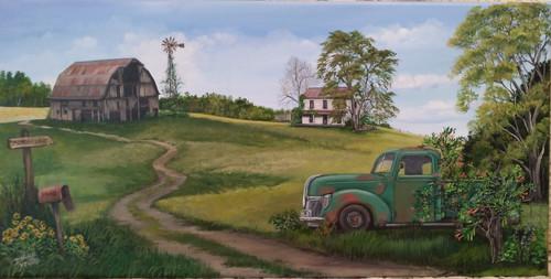 Memory Lane and the Old Pickup Truck- original