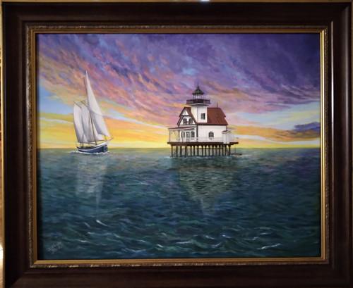 Roanoke River Lighthouse-  canvas print