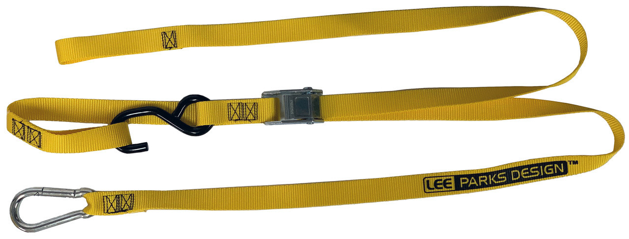 """8-Pack Heavy Duty 2/"""" Cam Buckle Tie-Down Straps"""