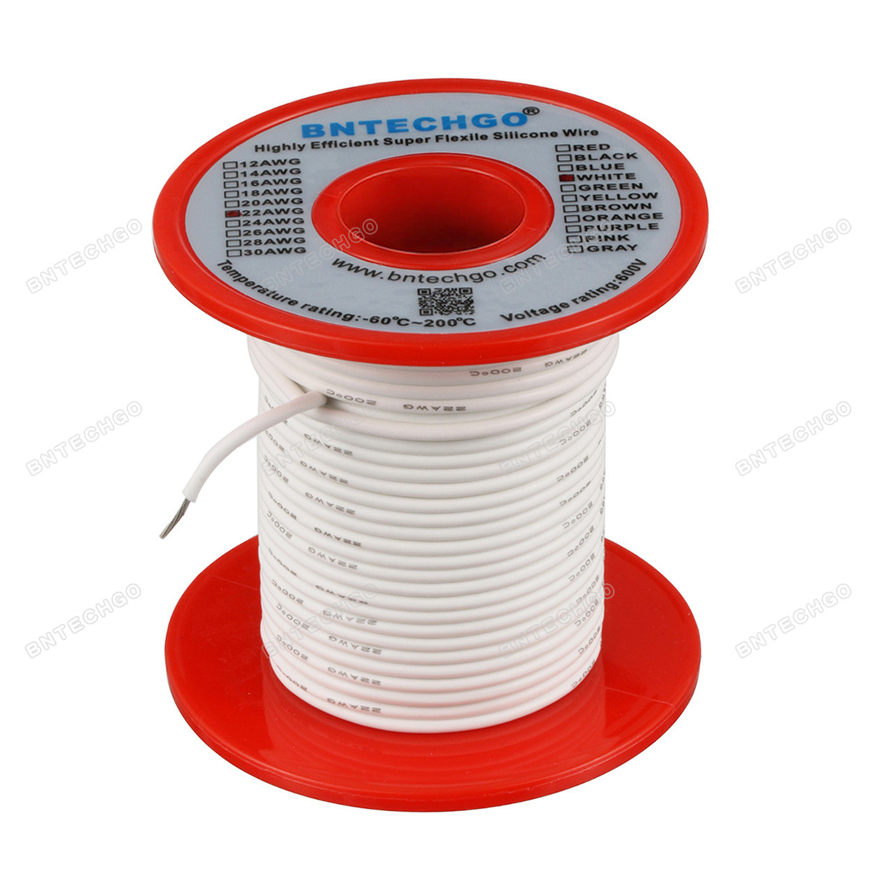 EnBoHao 0.2 mm/² 24 AWG PVC Tinned Copper Cable Electronic Electrical Wire Kit Solid Color Spool Low Voltage 2 x 10 Meters