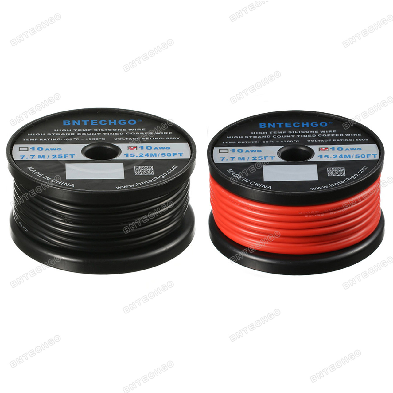 Details about  /BNTECHGO 14 Gauge Silicone Wire 10 ft red and 10 ft Black Flexible 14 AWG Copper