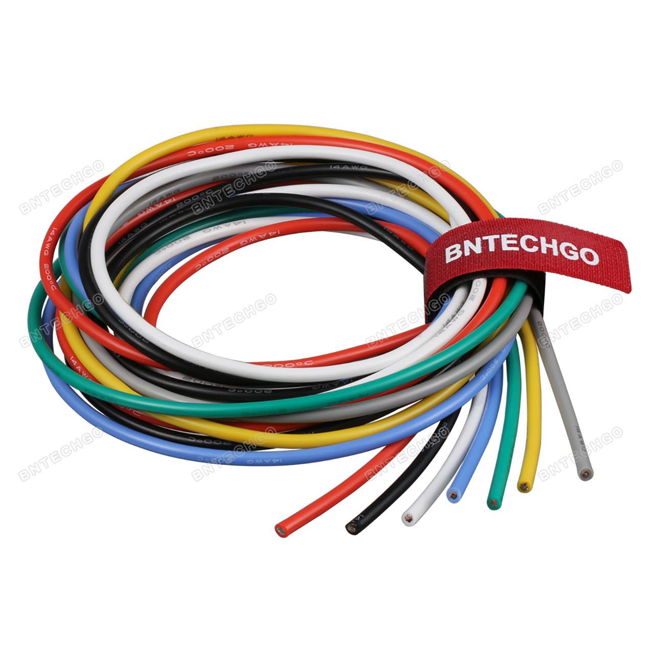 BNTECHGO 14 Gauge Silicone Wire Kit Ultra Flexible 7 Color High Resistant on